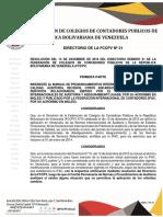DIRECTORIO FCCPV Resolucion Nº 21
