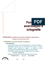 Morfologia - Fonologia, Acentuação e Ortografia