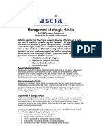 Management of Allergic Rhinitiss