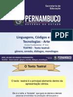 TEATRO - Texto Teatral Gênero, Enredo, Diálogos, Monólogos