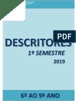 Descritores 6 Ao 9 1semestre 2019