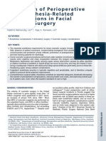 Prevention of Perioperative and Anesthesia-RelatedComplications in FacialCosmetic Surgery