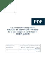 Clasificacion de Los Perfiles Tubulares de Acero S275 en Clases de Sección