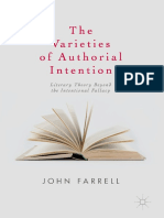 John Farrell - The Varieties of Authorial Intention