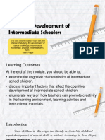 Module 22 Cognitive Development of Intermediate Schoolers Group 4