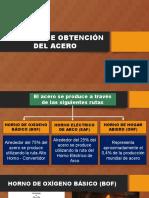 PROCESO DE OBTENCIÓN DEL ACERO