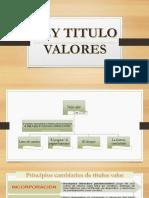 LEY DE TITULOS Y VALORES