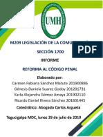 Reforma del Código Penal de Honduras