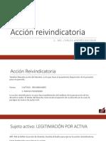 Acción Reivindicatoria y Acciones Posesorias