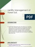 Fertility Management of Forest Soil