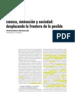 BBVA OPENDMIND Ciencia Innovacion y Sociedad Desplazando Frontera de Lo Posible Francisco Gonzalez.pdf