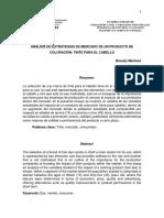ANÁLISIS DE ESTRATEGIAS DE MERCADO DE UN PRODUCTO DE COLORACIÓN