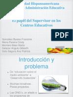 El papel del Supervisor en los Centros Educativos