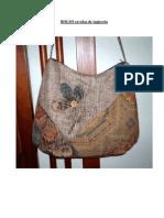 BOLSO en telas de tapicería