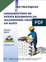 Guide Construction Petits Batiments Maconnerie Chainee-haiti