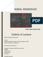 Antibiotic Resistance Lecture 2018