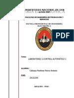 Informe de Laboratorio 2 Control Automático II