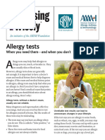 Allergy Tests AAAAI