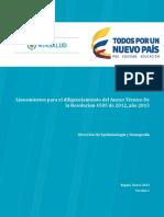 Lineamientos Diligenciamiento Anexo Tecnico 2015 Version 2013