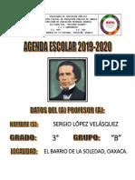agenda escolar 2019-2020 para maestros de grupo