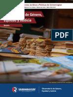 Boletín Observatorio de genero equidad y justicia