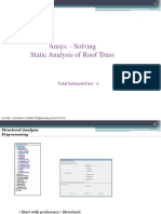 Static Analysis of Roof Truss IN MECHANICAL APDL