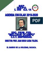 Agenda para directores 2019-2020 primaria