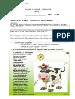 Evaluación de Lenguaje y Comunicación 5º Año Unidad 2
