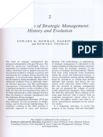 the Domain of Strategic Management