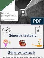 Leitura e Produção Textual - Artigo de Opinião