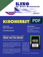 Kinoprogamm Kinoherbst 2019
