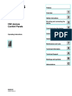 Hmi Comfort Panels Operating Instructions EnUS en-US