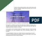 Fontes de Enrgia e Aproveitamento No Brasil