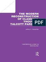5. the Modern Reconstruction of Classical Thought Talcott Parsons