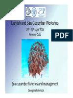 1 - Sea Cucumber Fisheries - Georgina Robinson