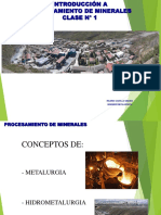 Primera Clase-Procesamiento de Minerales