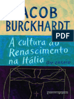 A Cultura Do Renascimento Na It - Jacob Burckhardt