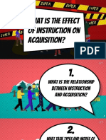 EFFECT OF INSTRUMENTATION ON ACQUISITION