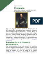 Cancer de Mama, Lengua Oral y Lengua Escrita y Rafael Urdaneta Biografia