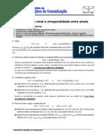 EXP1 - Potência de Um Sinal e Ortogonalidade - Exercícios Do Pre-Relatório