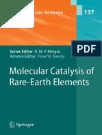 Libro 2010 Molecular Catalysis of Rare-Earth