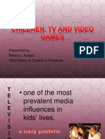 Children, TV and Video Games