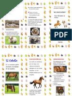 Triptico Animales Del Caballo y Carnero