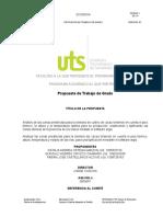 PROYECTO DE GRADO UTS
