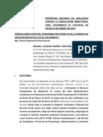 Apelacion Del Señor Manuel Alindor Muñoz Ventura