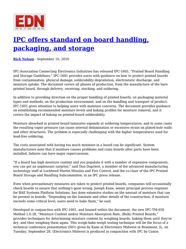 Osers Issues New Guidance Concerning >> Ipc Offers Standard On Board Handling Packaging And Storage