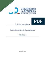 Guía del Estudiante Módulo 3 Administración de Operaciones