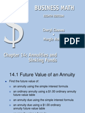 Ch14 Ppt Ppt Annuity European Present Value