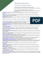 Internet-Digital Resources for Teachers