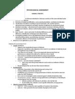 Psychological Assessment Reviewer